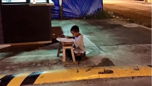 Homeless Filipino Boy