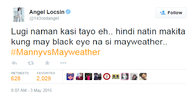 Angel Locsin Tweet