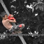 Greased Bamboo Climbing – Filipino Game