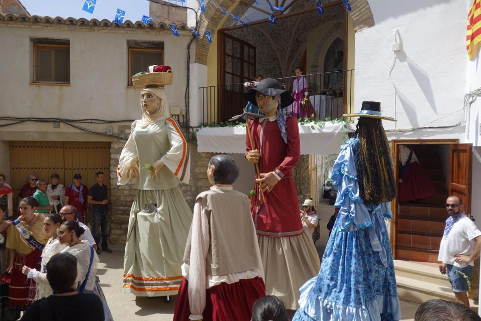 Baile de los gigantes en el Arco San Roque