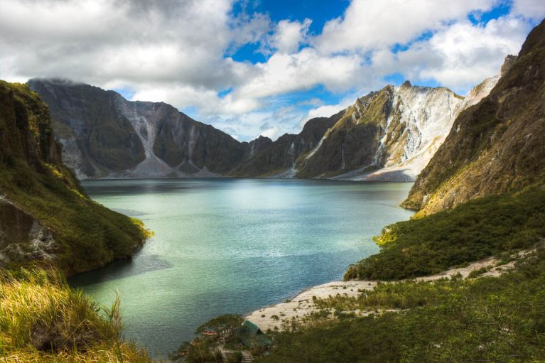 The crater lake of Mt. Pinatubo was formed after the climatic eruption of the Volcano in 1991